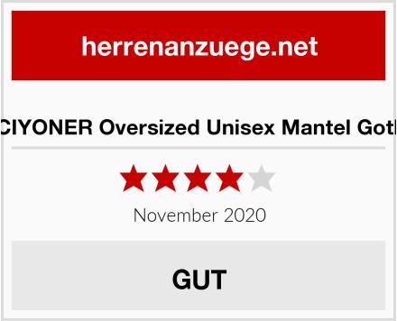 CICIYONER Oversized Unisex Mantel Gothic Test
