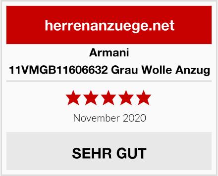 Armani 11VMGB11606632 Grau Wolle Anzug Test