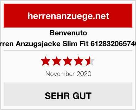 Benvenuto Herren Anzugsjacke Slim Fit 61283206574000 Test