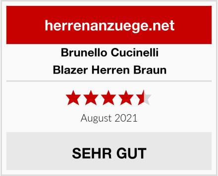 Brunello Cucinelli Blazer Herren Braun Test