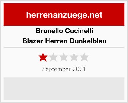 Brunello Cucinelli Blazer Herren Dunkelblau Test