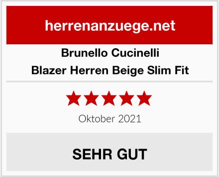 Brunello Cucinelli Blazer Herren Beige Slim Fit Test