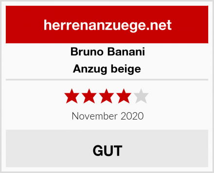 Bruno Banani Anzug beige Test