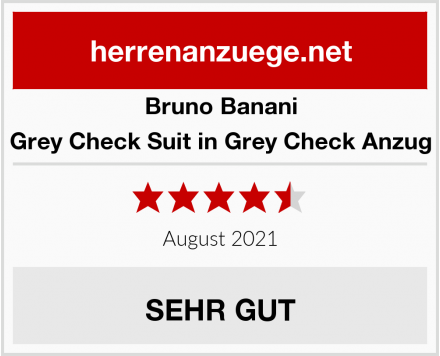 Bruno Banani Grey Check Suit in Grey Check Anzug Test