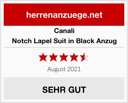 Canali Notch Lapel Suit in Black Anzug Test