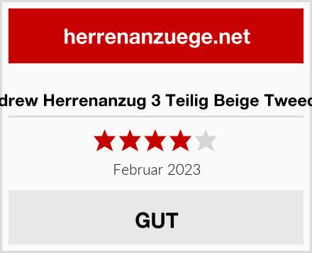 Paul Andrew Herrenanzug 3 Teilig Beige Tweed Design Test