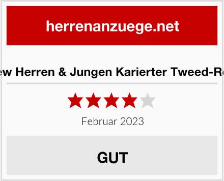 Paul Andrew Herren & Jungen Karierter Tweed-Retro-Anzug Test