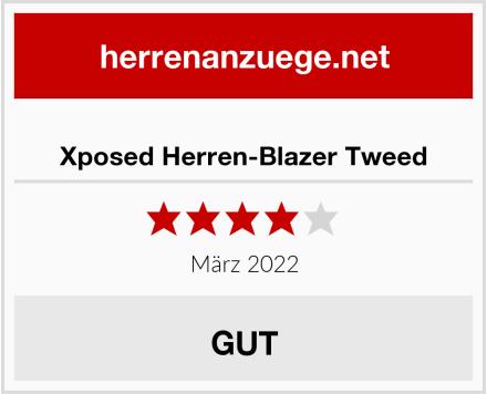 Xposed Herren-Blazer Tweed Test