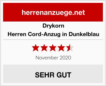 Drykorn Herren Cord-Anzug in Dunkelblau Test
