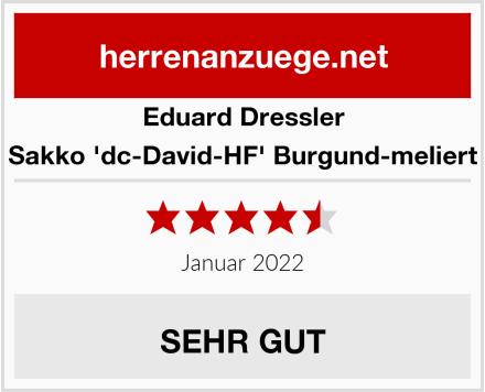 Eduard Dressler Sakko 'dc-David-HF' Burgund-meliert Test