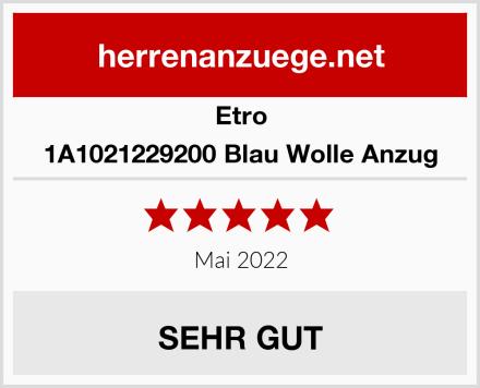 Etro 1A1021229200 Blau Wolle Anzug Test
