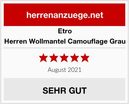 Etro Herren Wollmantel Camouflage Grau Test