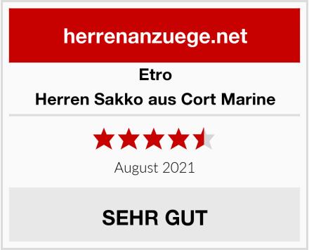 Etro Herren Sakko aus Cort Marine Test
