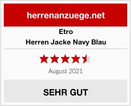Etro Herren Jacke Navy Blau Test