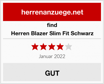find Herren Blazer Slim Fit Schwarz Test
