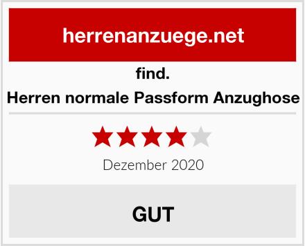 find Herren normale Passform Anzughose Test