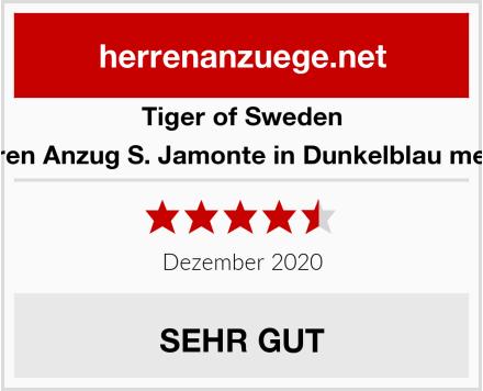 Tiger of Sweden Herren Anzug S. Jamonte in Dunkelblau meliert Test