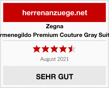 Zegna CL Ermenegildo Premium Couture Gray Suit Size Test