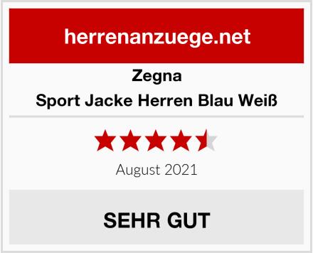 Zegna Sport Jacke Herren Blau Weiß Test