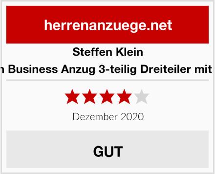 Steffen Klein Herren Business Anzug 3-teilig Dreiteiler mit Weste Test