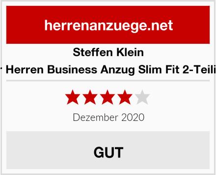 Steffen Klein Designer Herren Business Anzug Slim Fit 2-Teilig Kariert Test