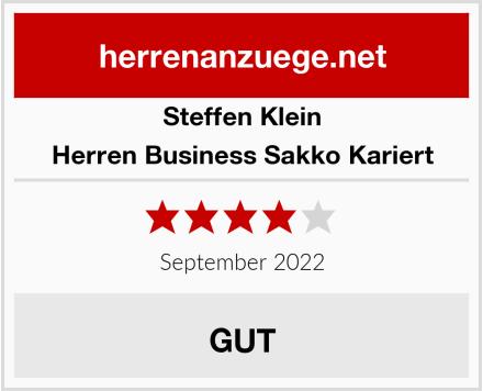 Steffen Klein Herren Business Sakko Kariert Test