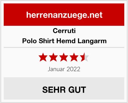 Cerruti Polo Shirt Hemd Langarm Test
