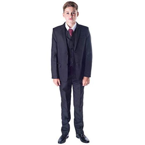 Romario Jungen-Anzug 5-teiliges Set Dunkelblau