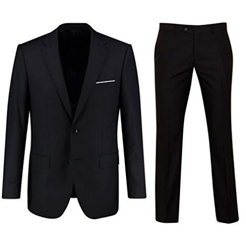 Keskin Anzug Herren Anzug Set Schwarz-Blau