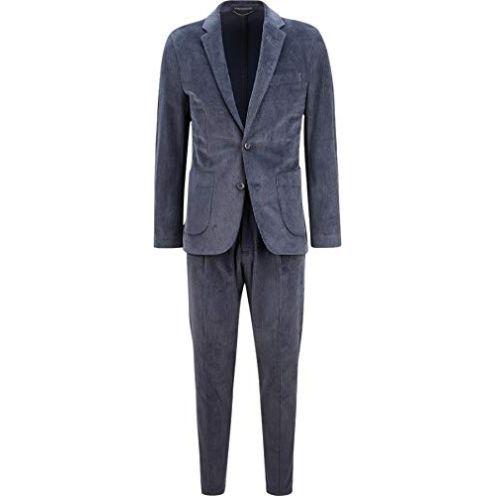 Drykorn Herren Cord-Anzug in Dunkelblau