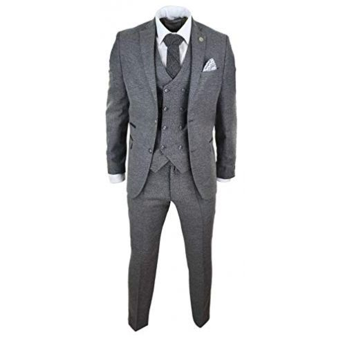 TruClothing.com Herrenanzug 3 Teilig Tweed Design 1920 Stil