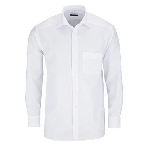 MARVELIS Comfort Fit Hemd Langarm Uni Popeline