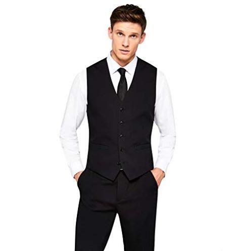 find Herren Anzugweste Stretch Regular Fit Waistcoat
