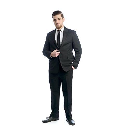 NGB Taillierter 2-TLG. Herren Anzug Schwarz