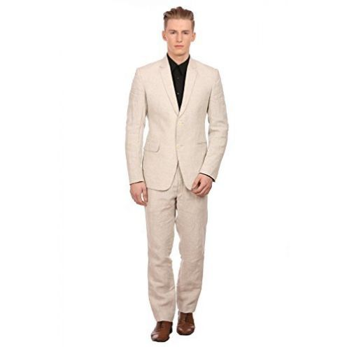 WINTAGE Männer 100% Leinen Anzug