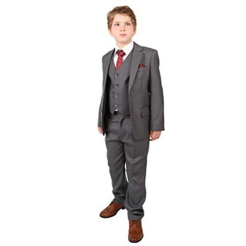 SIRRI Hochzeitsanzug Set für Jungen Grau