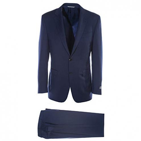 Canali Plain Navy Suit in Navy Anzug