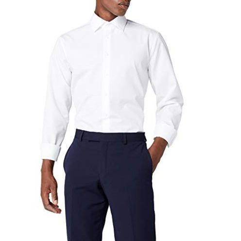 Seidensticker Herren Business Hemd (Weiß 1)
