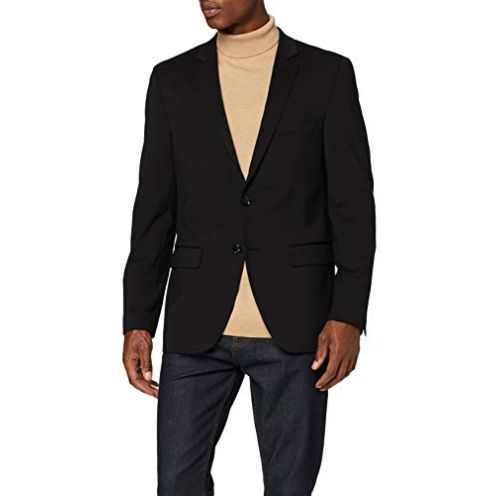 find Herren Blazer Slim Fit Schwarz