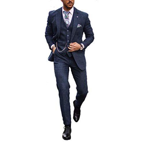 Cavani Carnegi Tweed 3-teiliger Anzug Slim Fit