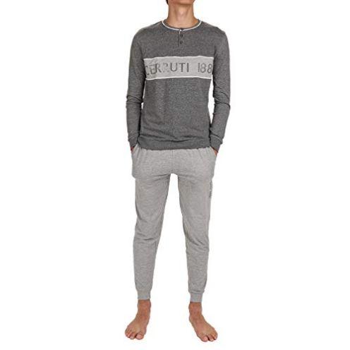 Cerruti Pyjama aus Baumwolle für Herren  Anthrazit