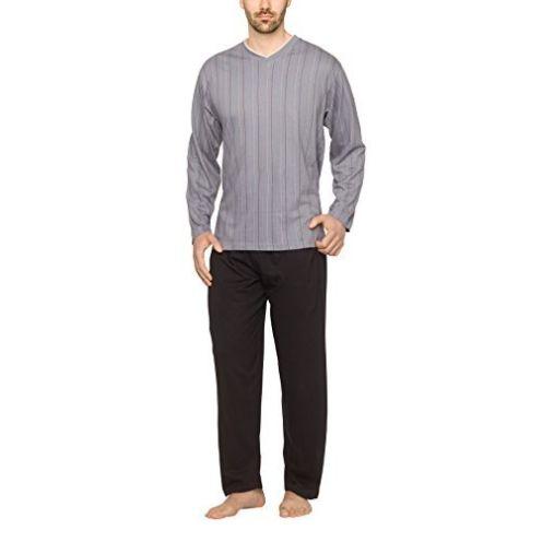 Moonlight Herren Schlafanzug Streifen-Design
