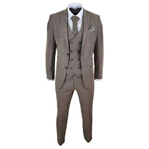 TruClothing.com Herrenanzug 3 Teilig Tweed Design Peaky Blinders 1920 Stil