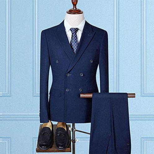 MarXixi Zweireiher Business 3-teiliger Anzug