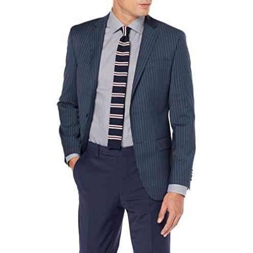 Daniel Hechter Herren Jacket Modern Anzugjacke Blaugrau 640