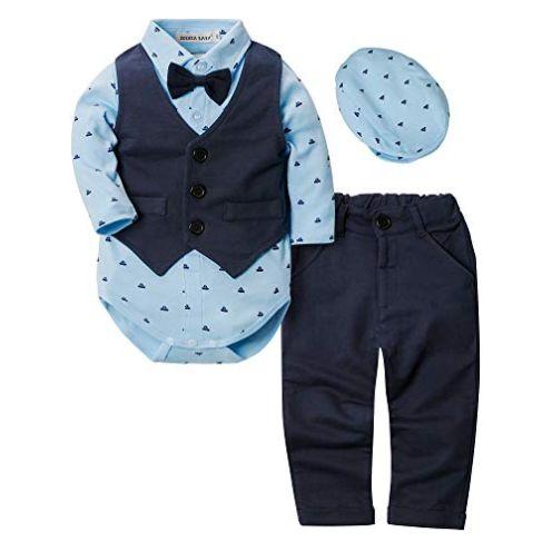 ZOEREA Baby Strampler Blau