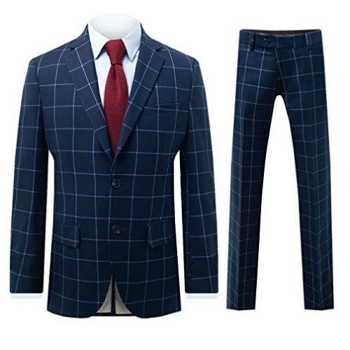 Dobell Herren Anzug zweiteilig Marineblau