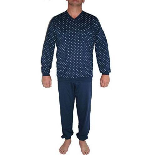 Seidensticker Herren Zweiteiliger Schlafanzug Blau (Dunkelblau 803)