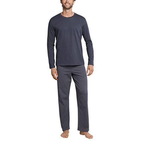 Schiesser Ebony Long Lift Soft Schlafanzug
