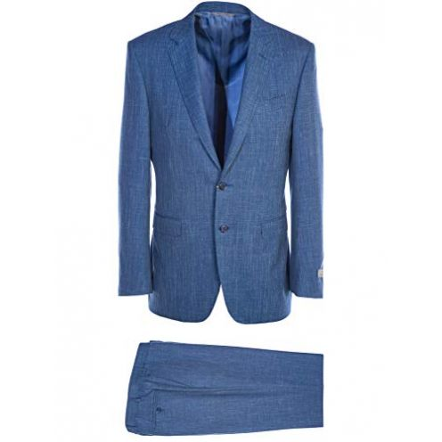 Bruno Banani Mix Notch Lapel Suit in Sky Blue Sakko